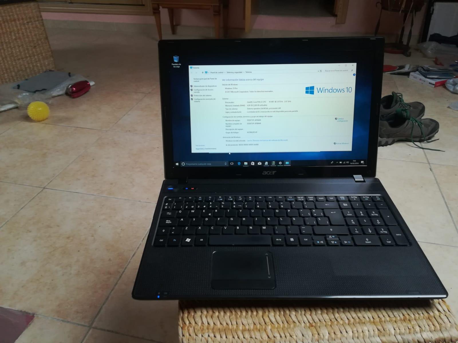 Ordenador Portatil  Acer Extensa 2508 series